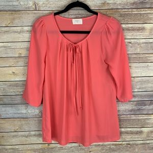 3/$30 Everly S Coral Blouse Top